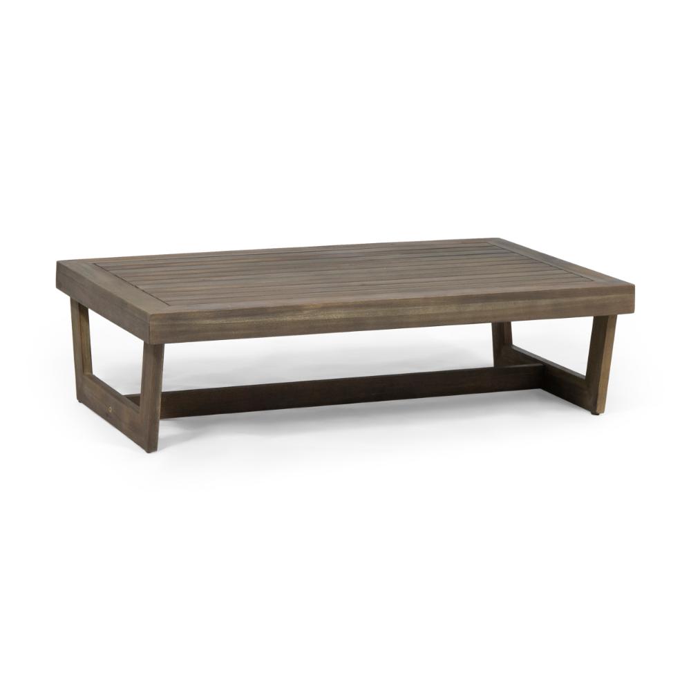 Hannah Outdoor Acacia Wood Coffee Table Gray Walmart Com Coffee Table Wood Outdoor Coffee Tables Metal Outdoor Table