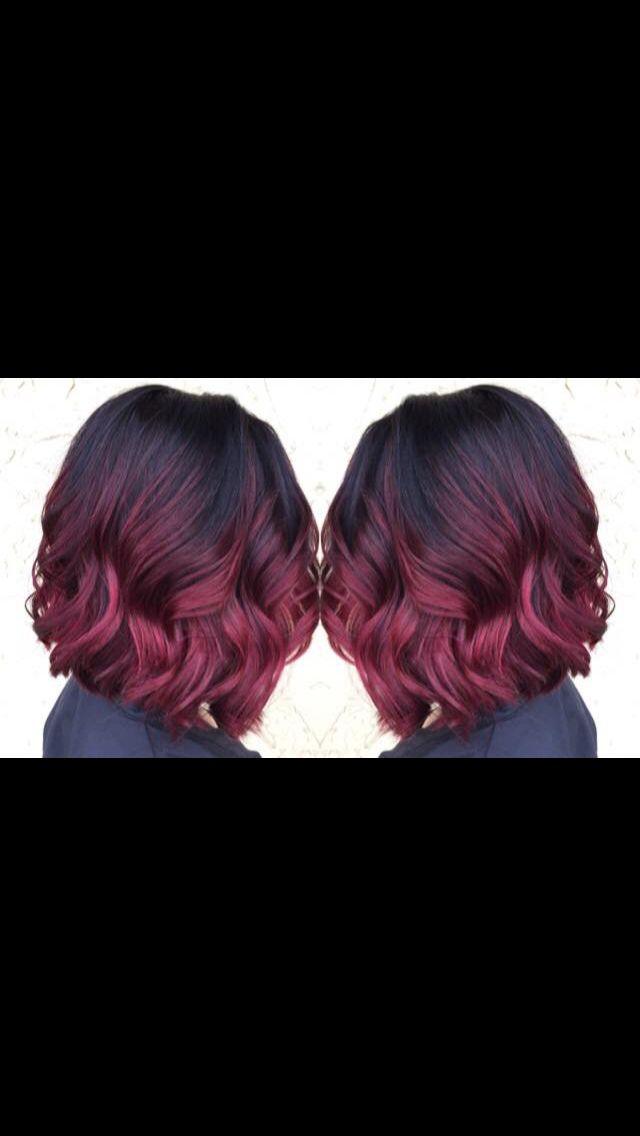 Burgundy/ red violet ombre