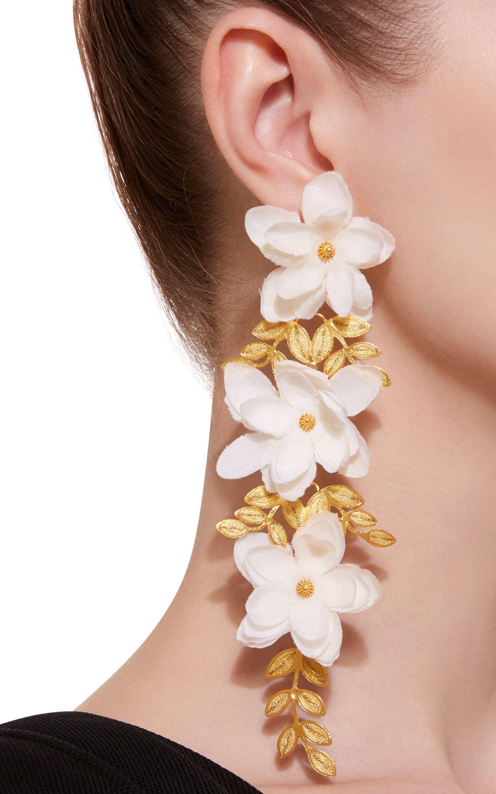 Mallarino Gaby Gold Vermeil Silk Earrings QN6Wvd7