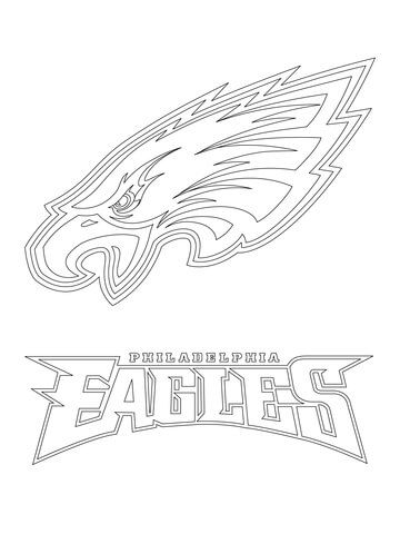 Philadelphia Eagles Logo Coloring Page Free Printable Coloring