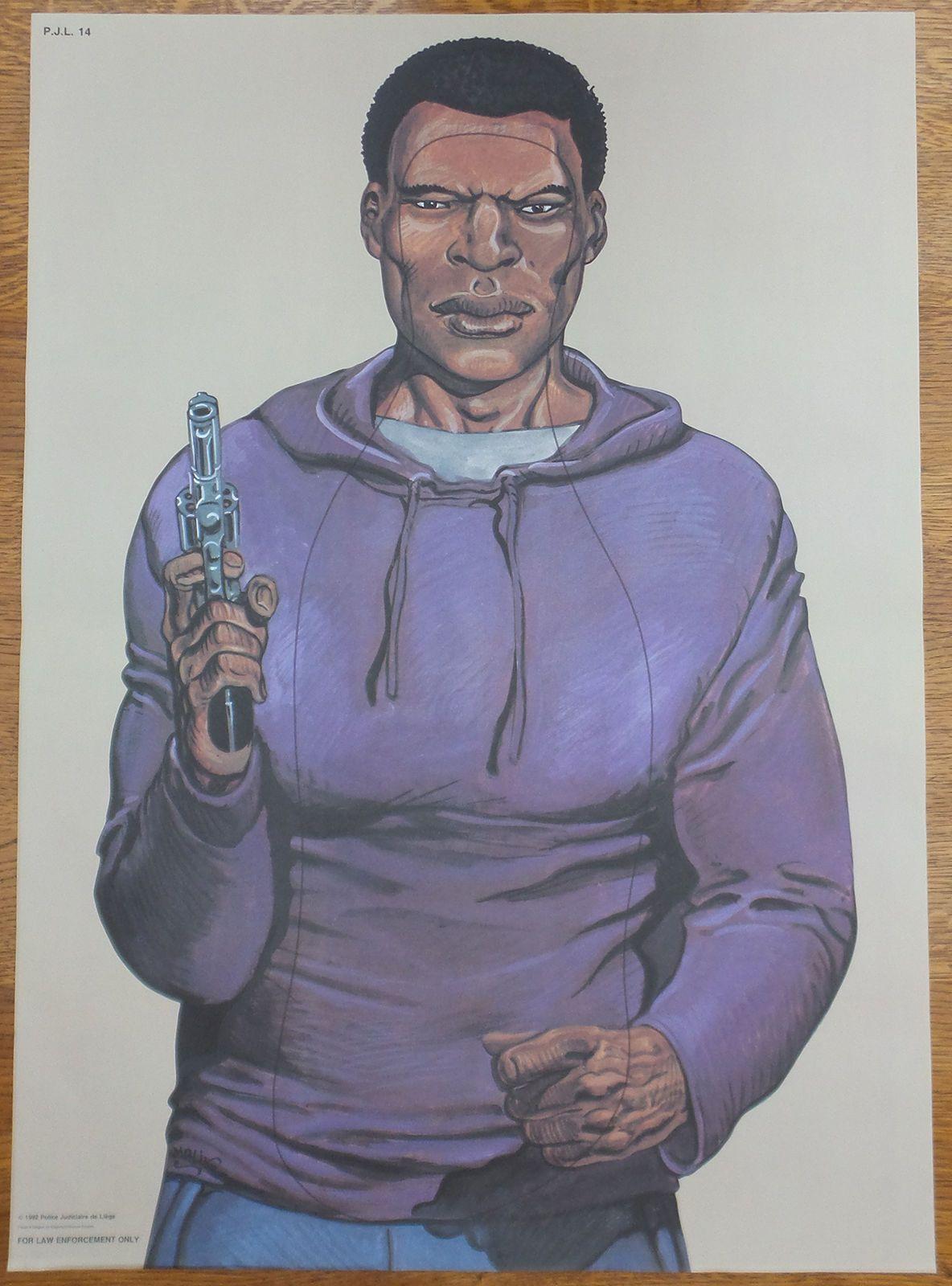 Vintage Police Law Enforcement Shooting Target Poster as seen on Drew Pritchard