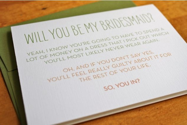 Honest invitation to be a bridesmaid maids wedding and funny honest invitation to be a bridesmaid stopboris Choice Image