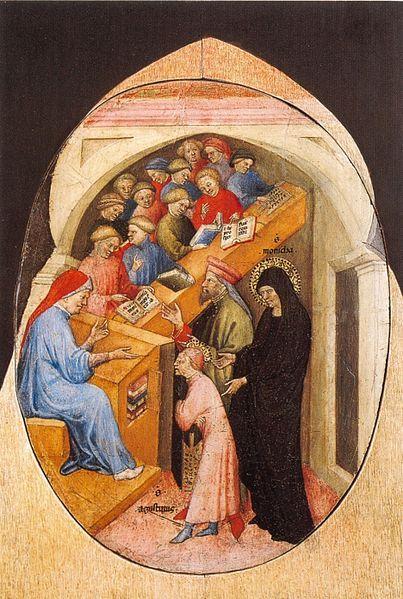 Nicolo_di_Pietro._1413-15._The_Saint_Augustine_Taken_to_School_by_Saint_Monica._Pinacoteca,_Vatican.