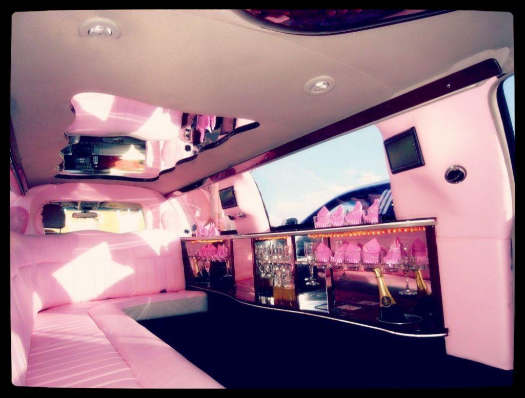 Inside pink limo pinkluxuryfancygirls night ggs