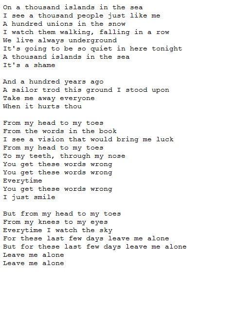 leave me alone lyrics