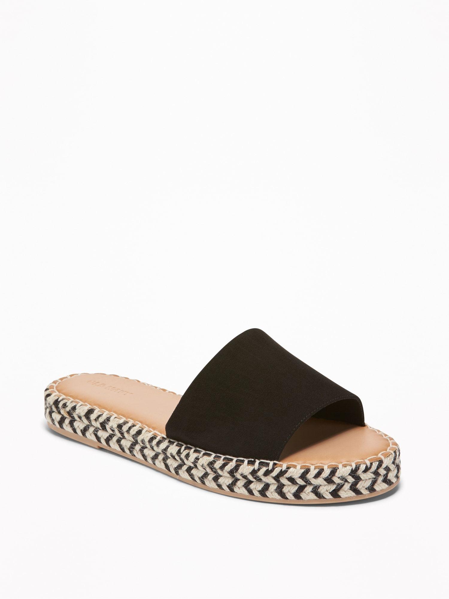 69e9ceeb750 Faux-Suede Slide Espadrille Sandals for Women in 2019 | (( adorn ...