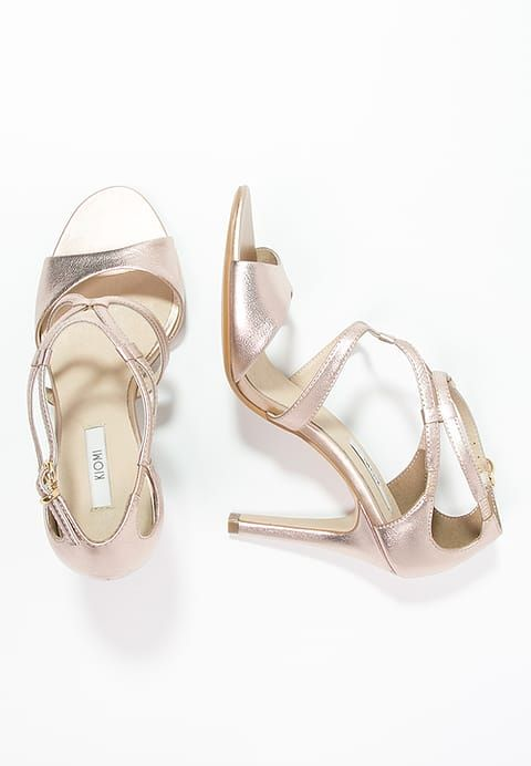Chaussures Kiomi Sandales A Talons Hauts Rose Gold Or Rose 60 00