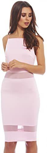 Enjoy exclusive for AX Paris Women's Mesh Panel Bodycon Dress online #backlesscocktaildress