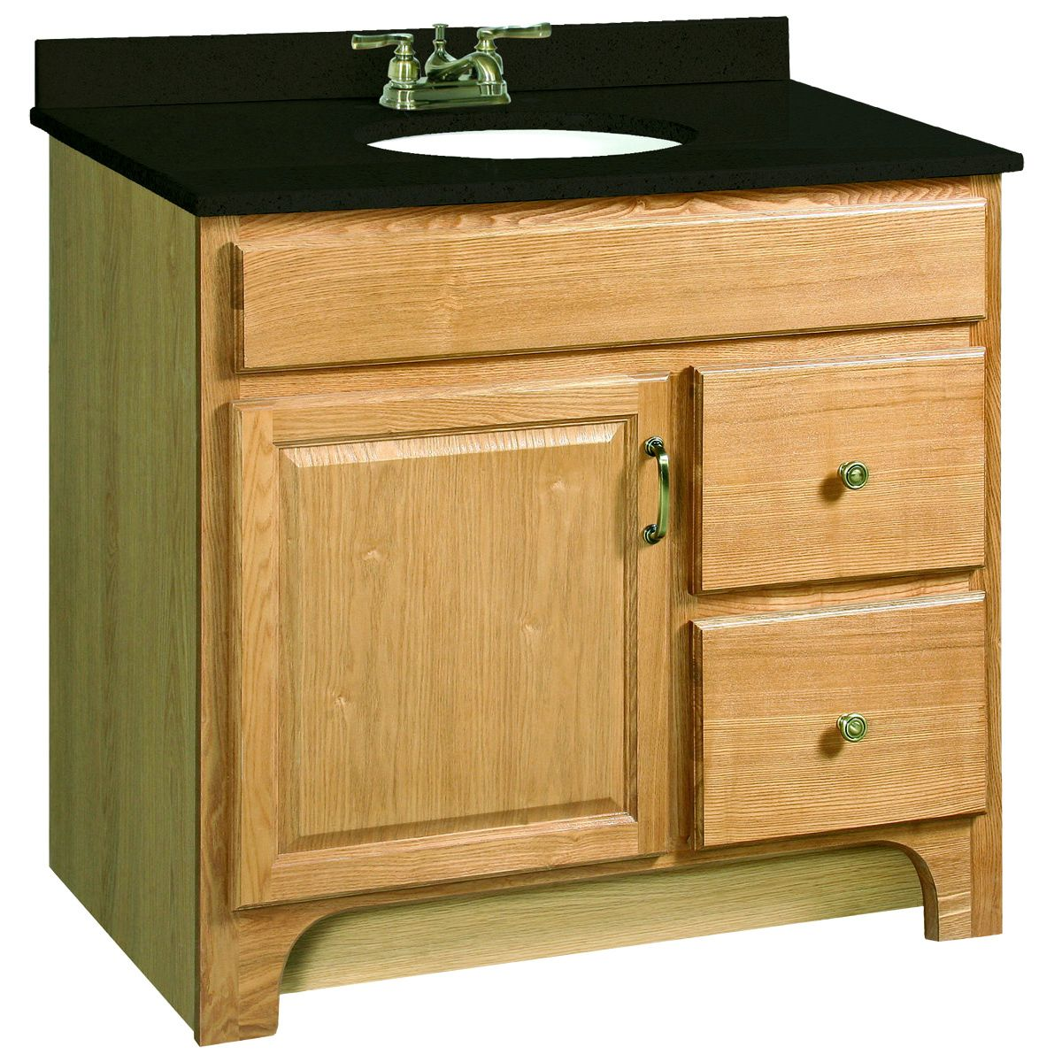 Design House Richland Nutmeg Oak Door Vanity Cabinet Overstock