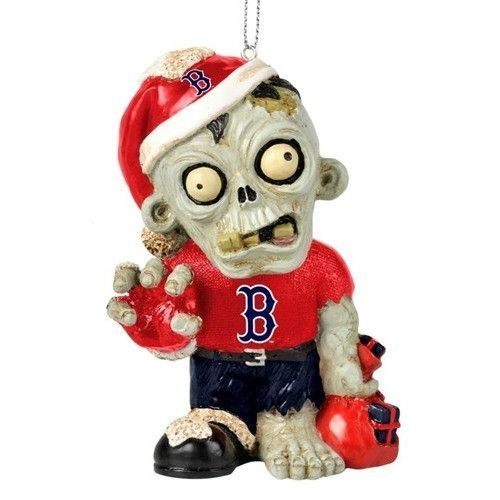 Boston Red Sox Resin Zombie Ornament
