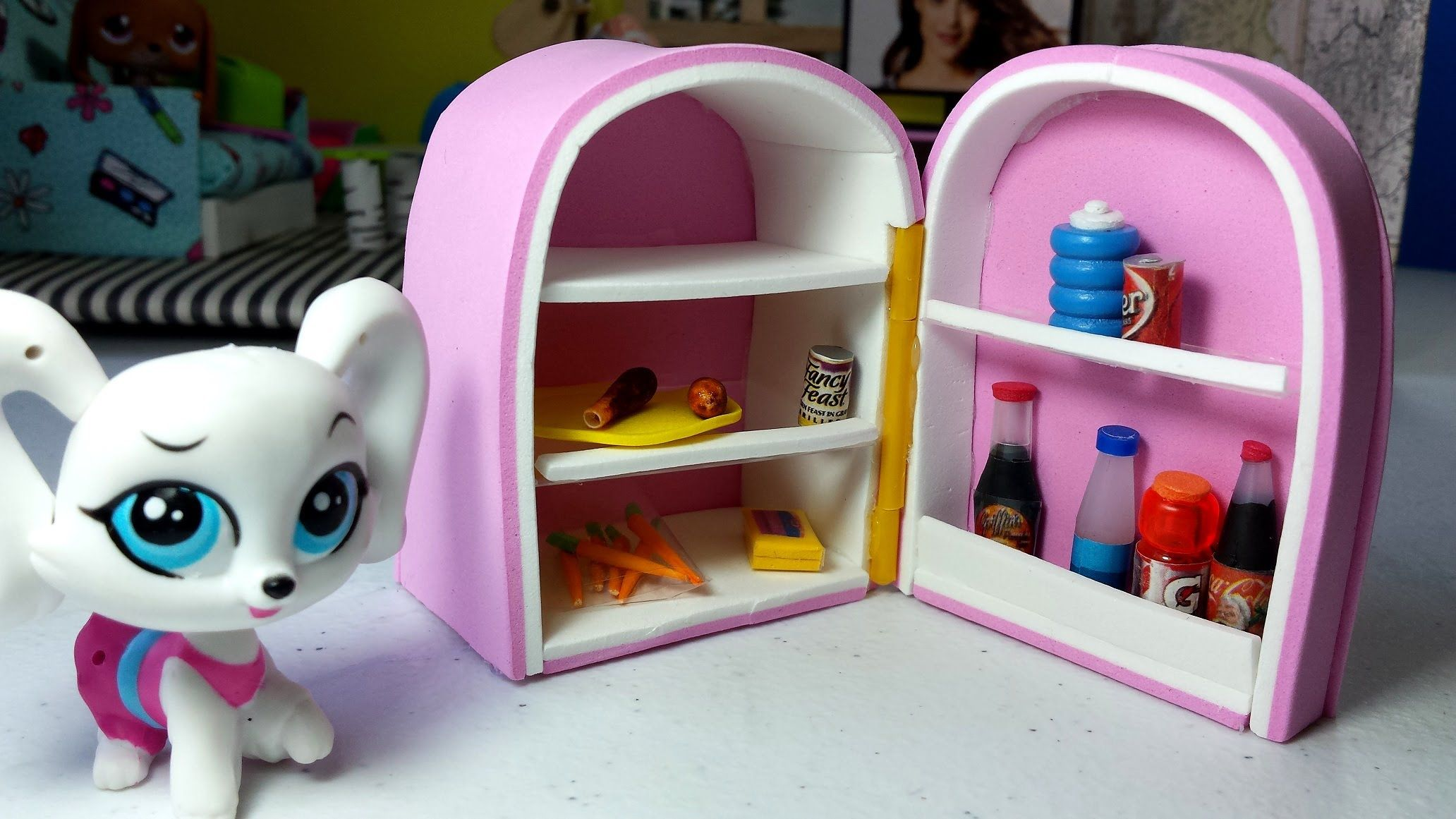 Diy Lps Fridge Doll How To Lps Crafts Lps Diy Accessories Diy Doll