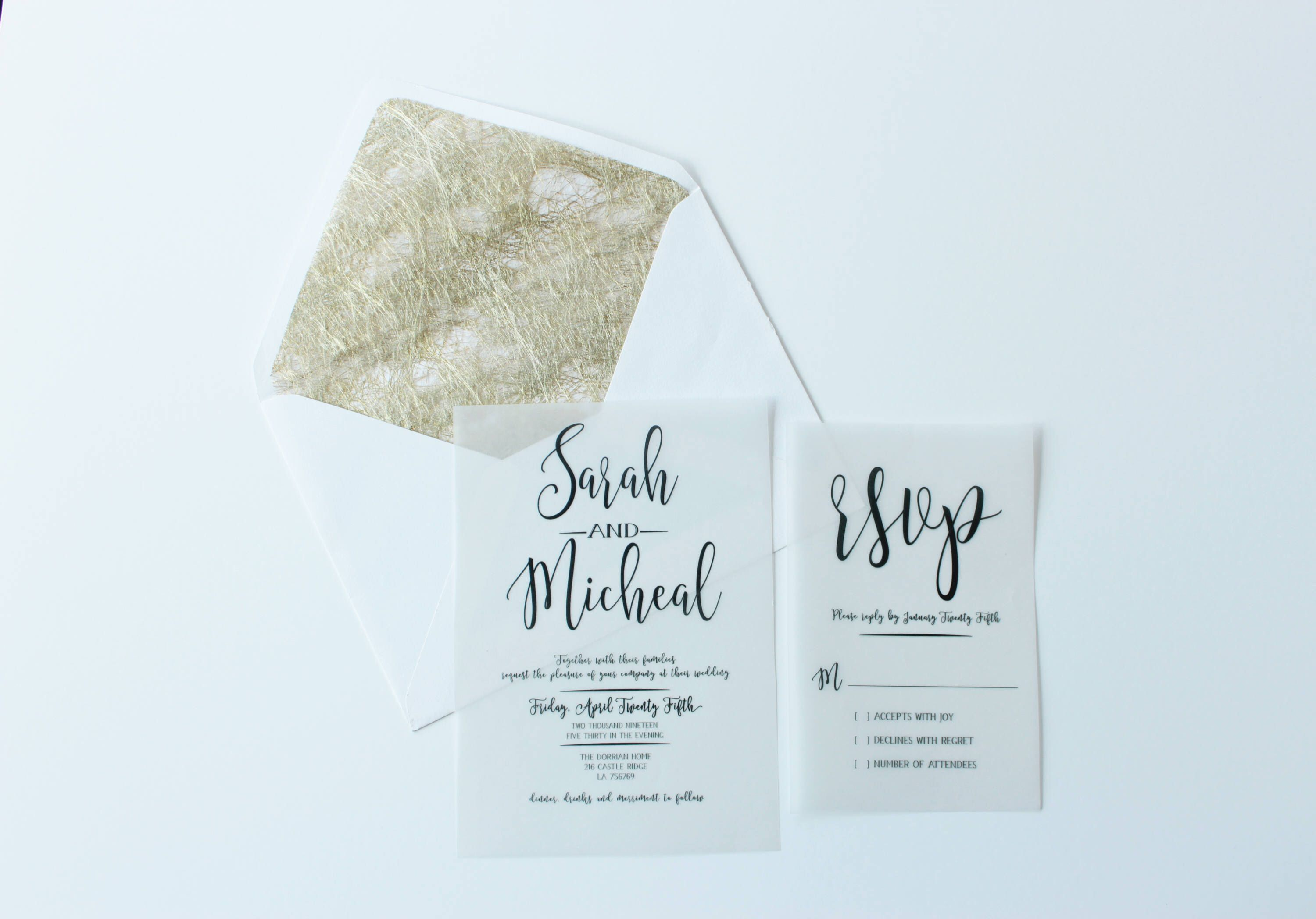 Pin by Yvedoc on Business cards | Pinterest | Gold wedding ...