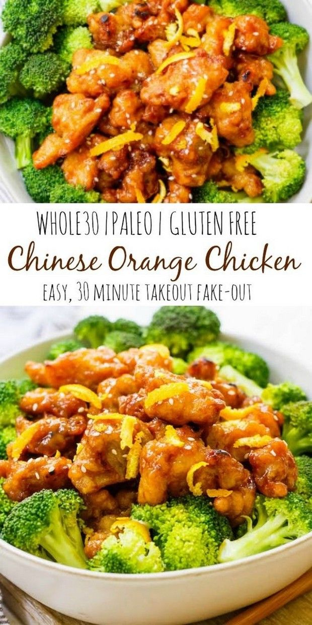 Easy Whole30 Chinese Orange Chicken images