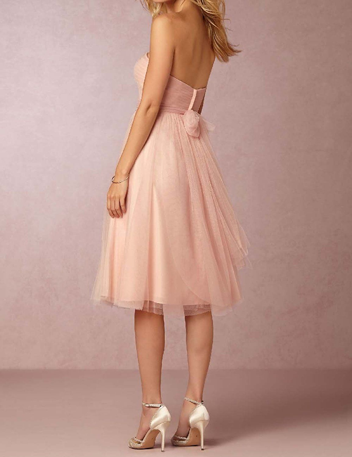 878454ad8eb OYISHA Women s Tulle Sweetheart Short Bridesmaid Blush Cocktail Dresses  PR45 at Amazon Women s Clothing store