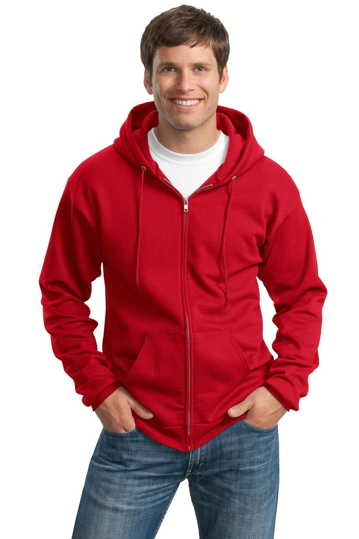 Port /& Company Mens Classic Full-Zip Hooded Sweatshirt