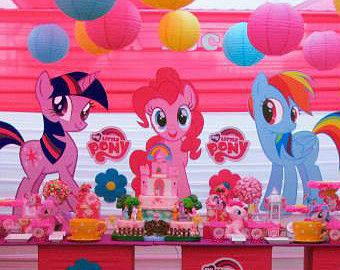 MY LITTLE PONY Party Prop - Event Decoration - Bedroom/Yard ...