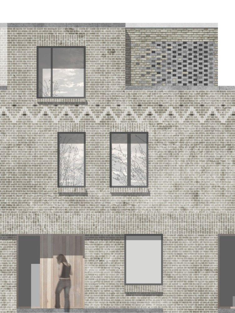 Mclaren excell pinterest for Brick elevation design