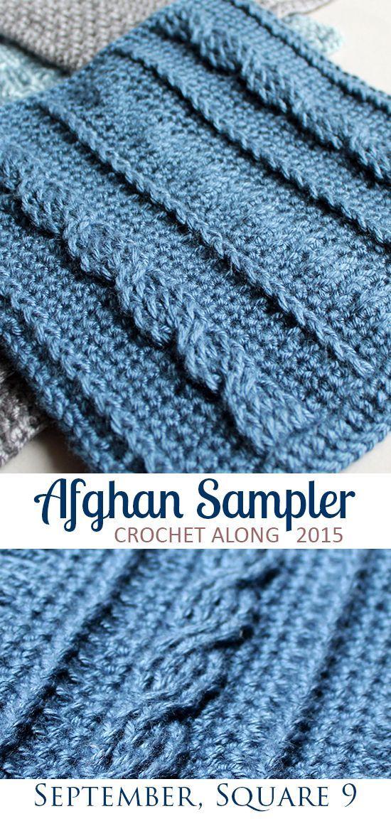 Square 9! Crochet Along Afghan Sampler (September) | Ganchillo ...