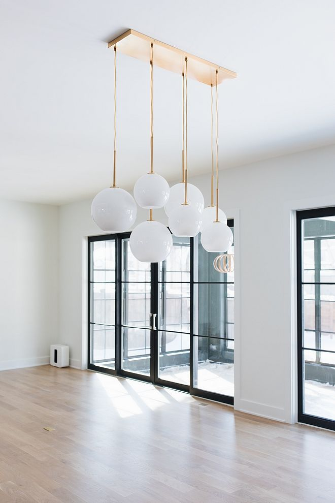 Glass Globe Chandelier Sculptural 7 Light Mixed Chandeliers Glassglobechandelier Abode