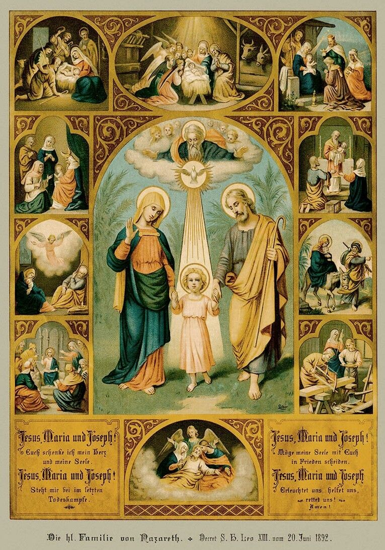 """allaboutmary """"The Holy Family of Nazareth Jesus Mary and Joseph"""