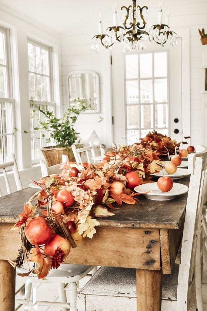 Simple Farmhouse Thanksgiving Tablescape Farmhouse fall
