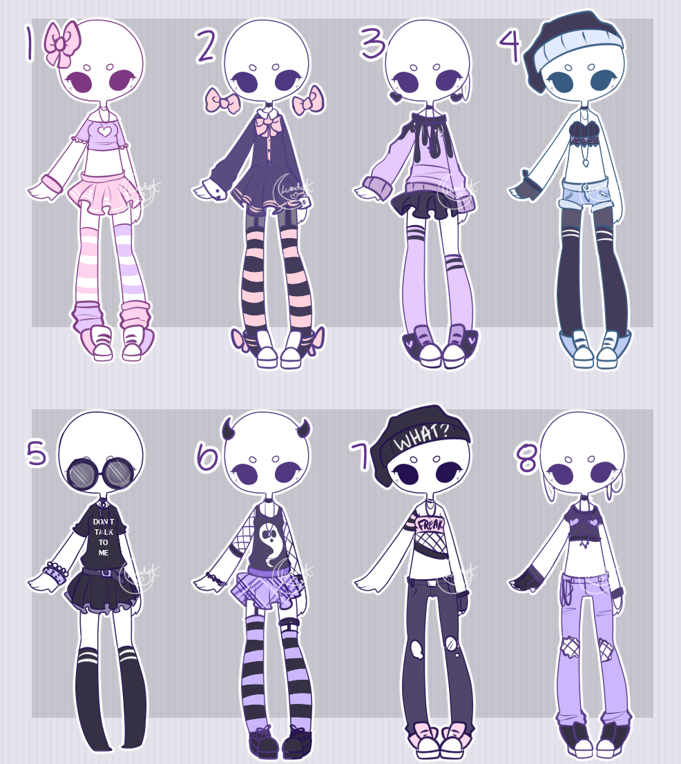 Outfit adopts: PASTEL CASUAL CLOSED by Lunadopt.deviantart ...