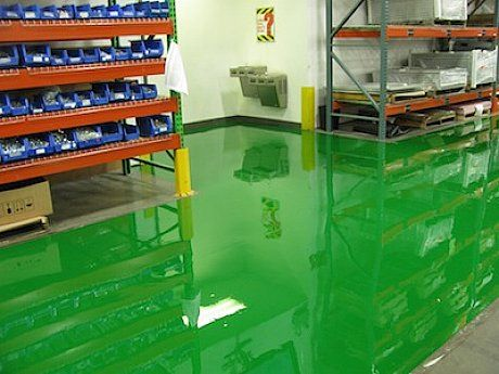 How To Ly Epoxy Paint Garage Floor With Green Colors