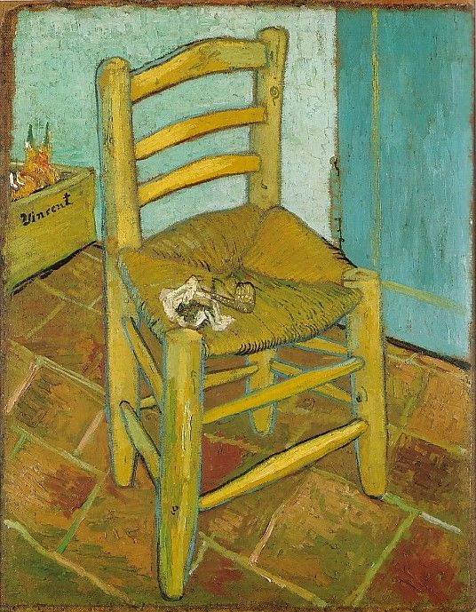 'Vincent's Chair with His Pipe. Van Gogh
