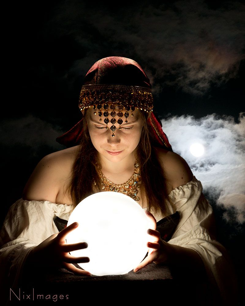 Gypsy Fortune Teller Headpiece Idea