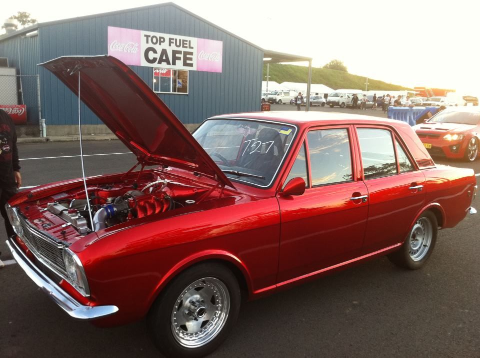 Ford Cortina Candy Apple red