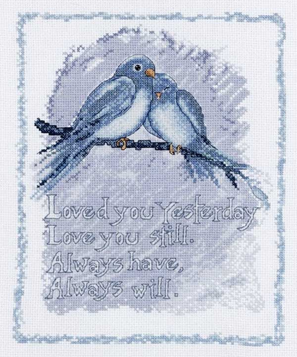 Bucilla Counted Cross Stitch Picture Kits 45656 Love You Always