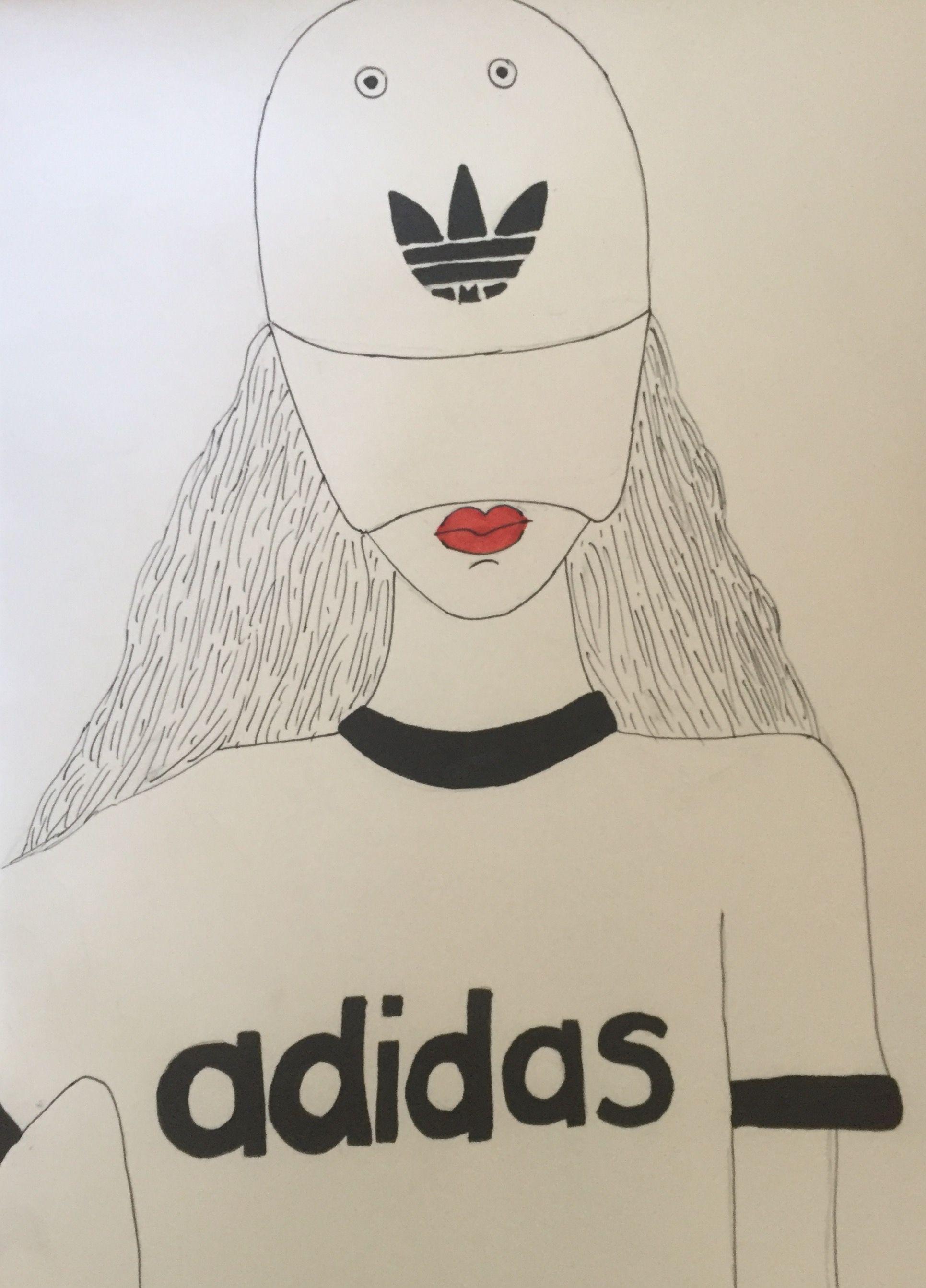 Adidas Meisje Tekenen Vrij Makkelijk Tekenen Meisjes Tekenen
