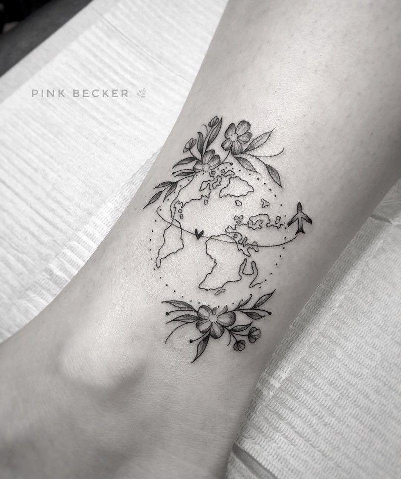 Listamos aqui nessa matéria 10 tatuadores que arrasam em tatuagens com o tema viagem  Vem com a gente! -  #tattoosIdeas #UniqueSacredGeometry