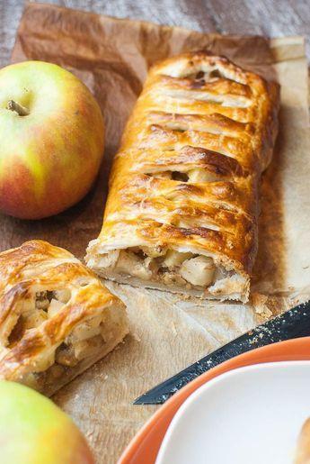 Schneller Apfelstrudel mit Blätterteig und Walnüssen #patefeuilleteerapide