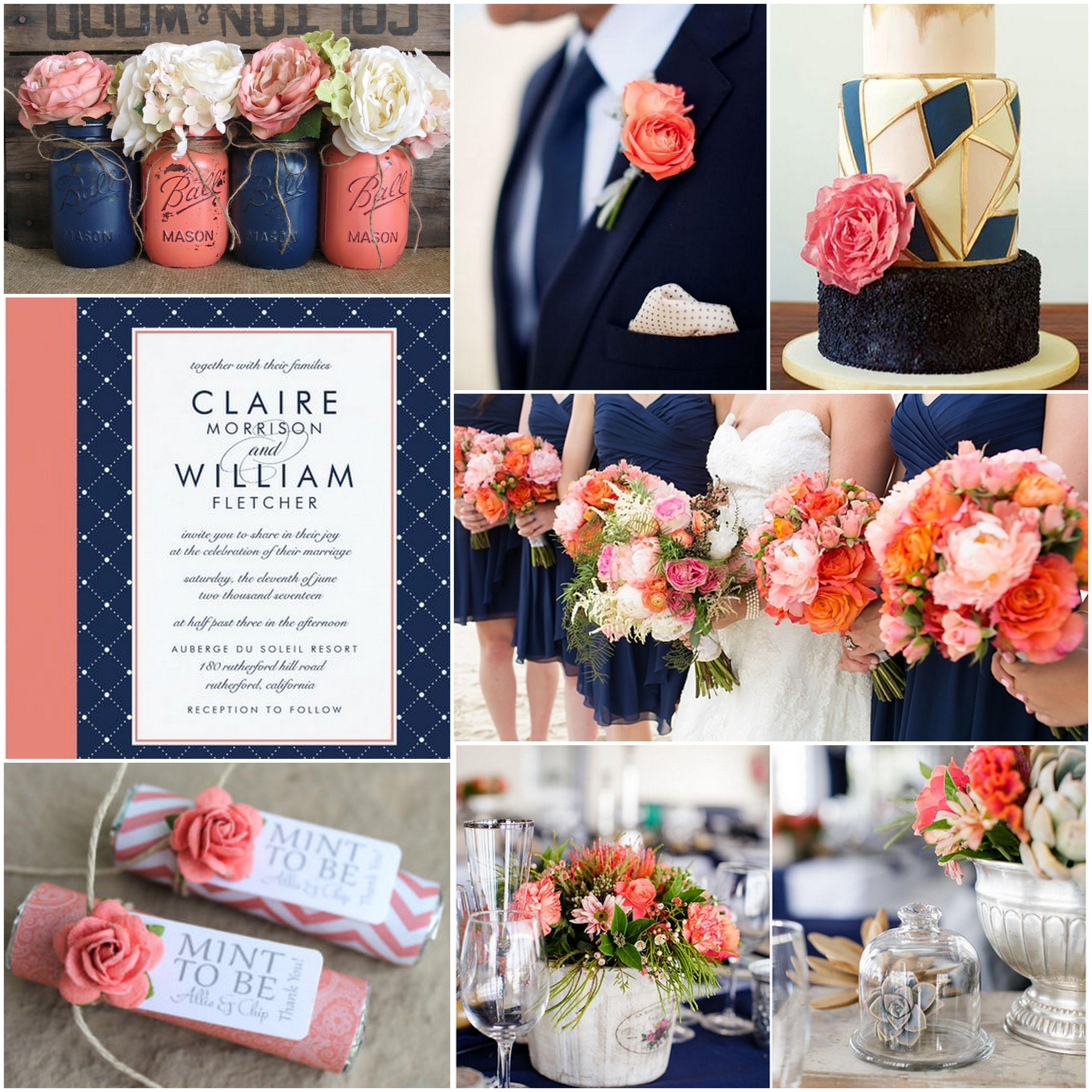 Navy Blue Wedding Ideas: Pin By Heather Richards On Wedding In 2019