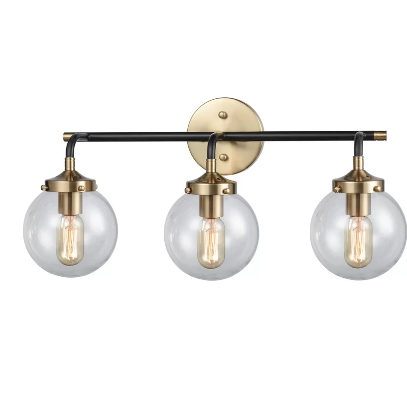 Shontelle 3 Light Vanity Light Vanity Lighting Black And Gold Bathroom Bathroom Light Fixtures