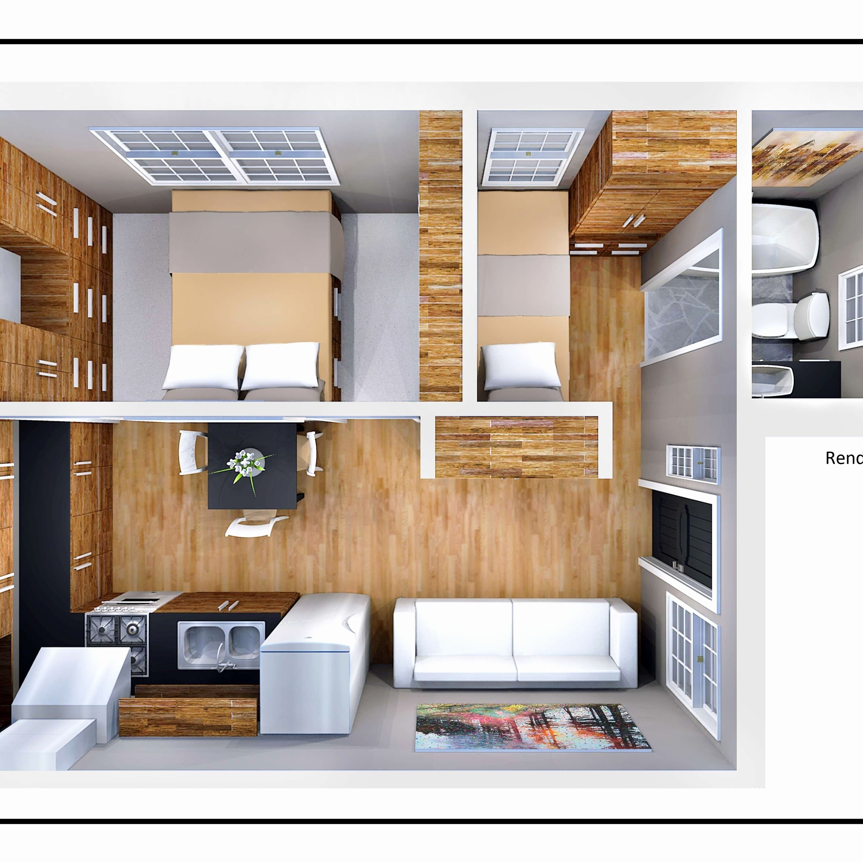 Image Result For Under 500 Sq Ft House Plans Studio Apartment Floor Plans Small House Design Small House Kits