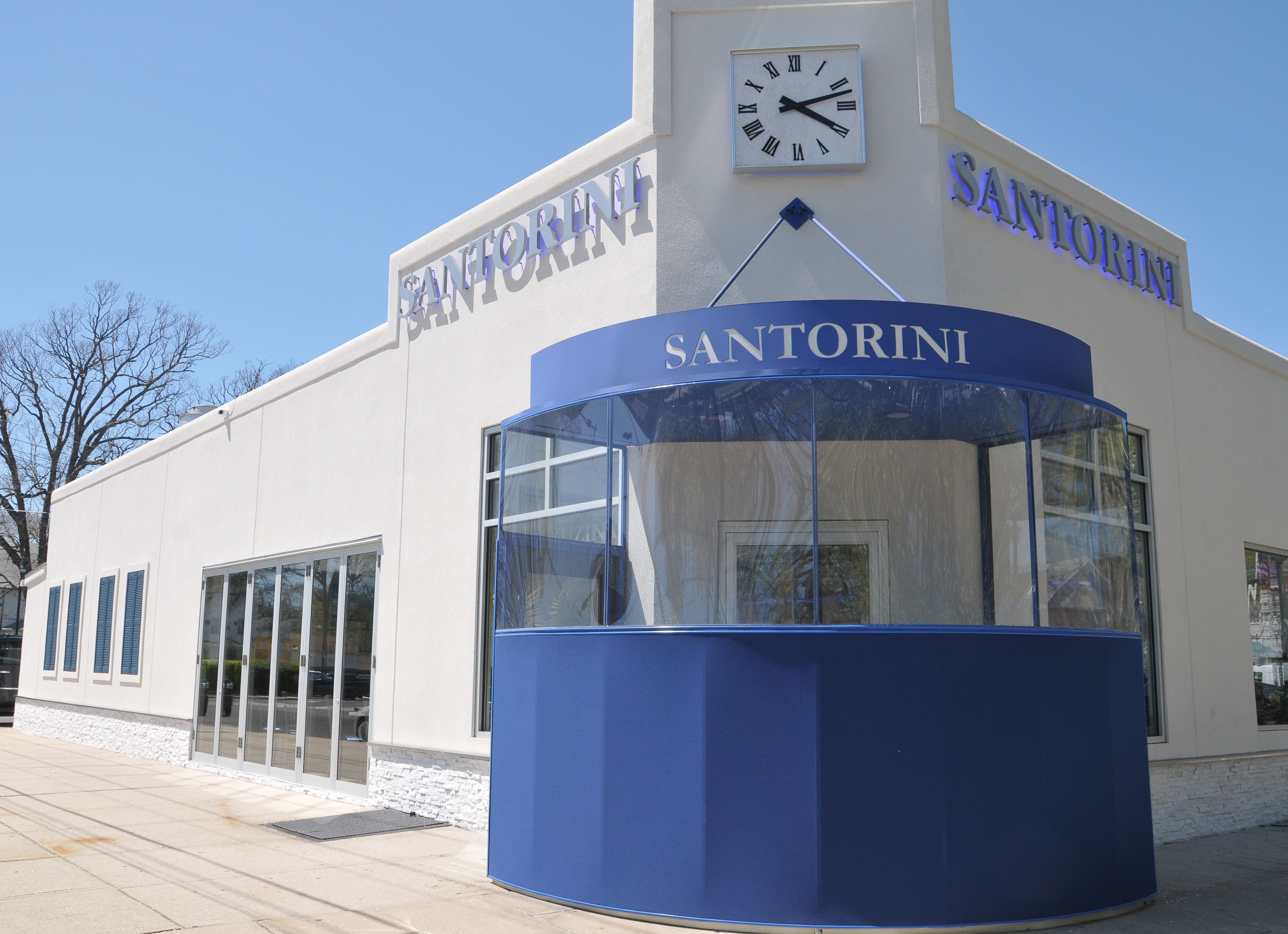 Santorini Is A Delicious Greek Restaurant In Merrick Ny Designed By Georgio Savva I Commercial Design Greek Restaurants Ferry Building San Francisco