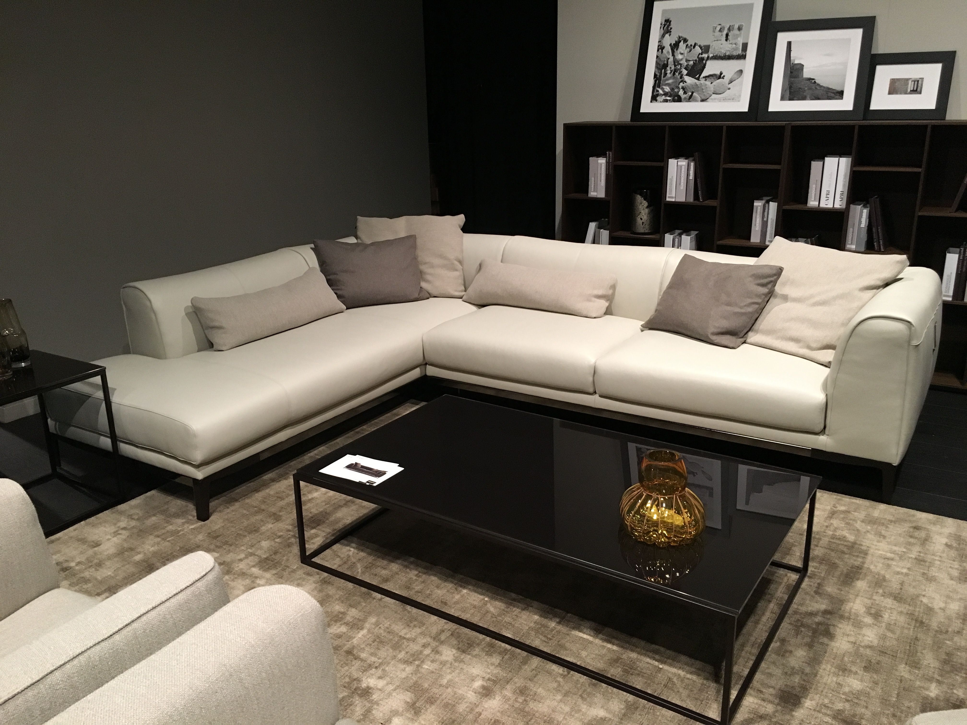 Natuzzi Editions Fiorano Sofa with Flare Tapered Arms