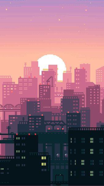 City Wallpaper 1920x1080 : wallpaper, 1920x1080, Pixel, Digital, Night,, City,, Buildings,, Cityscape,4K,, 3840x2160,, 1920x1080,, 2160x3840,, 1080…, Wallpaper, Iphone,, Background