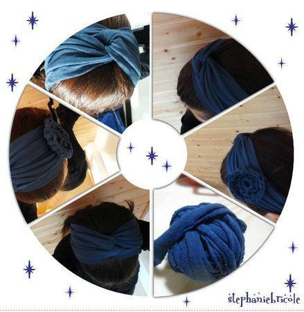 comment faire un bandeau pour les cheveux avec un tee shirt tuto diy headband cr ations. Black Bedroom Furniture Sets. Home Design Ideas