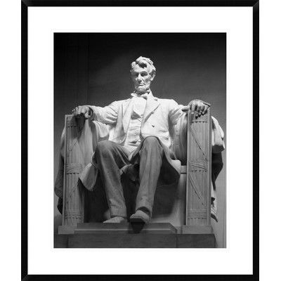 Global Gallery 'Lincoln Memorial, Washington, D.C.' by Carol Highsmith Framed Photographic Print in Black and White Size: