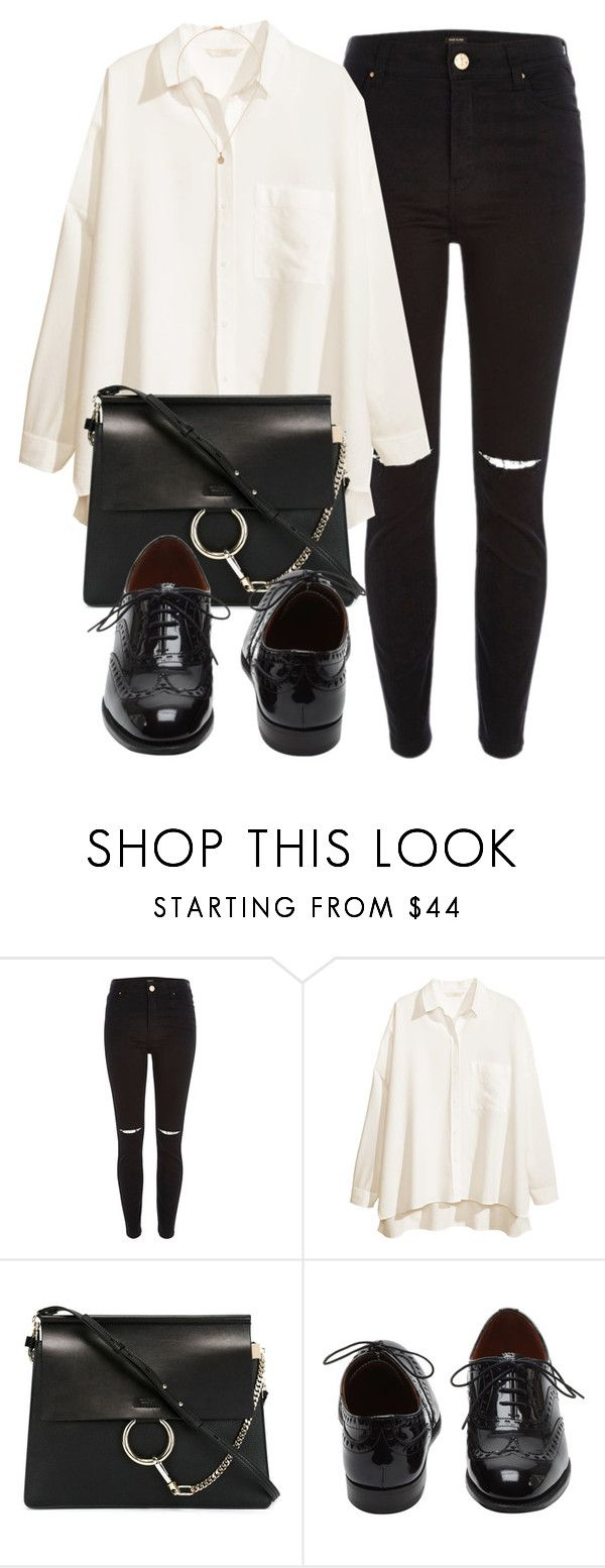 """""""Untitled #4941"""" by laurenmboot ❤ liked on Polyvore featuring River Island, H&M, Chloé, Mulberry and Khai Khai"""