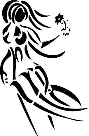 86c500a99e1d7 Virgo motif with symbol and woman - softer lines maybe... | tattoos ...