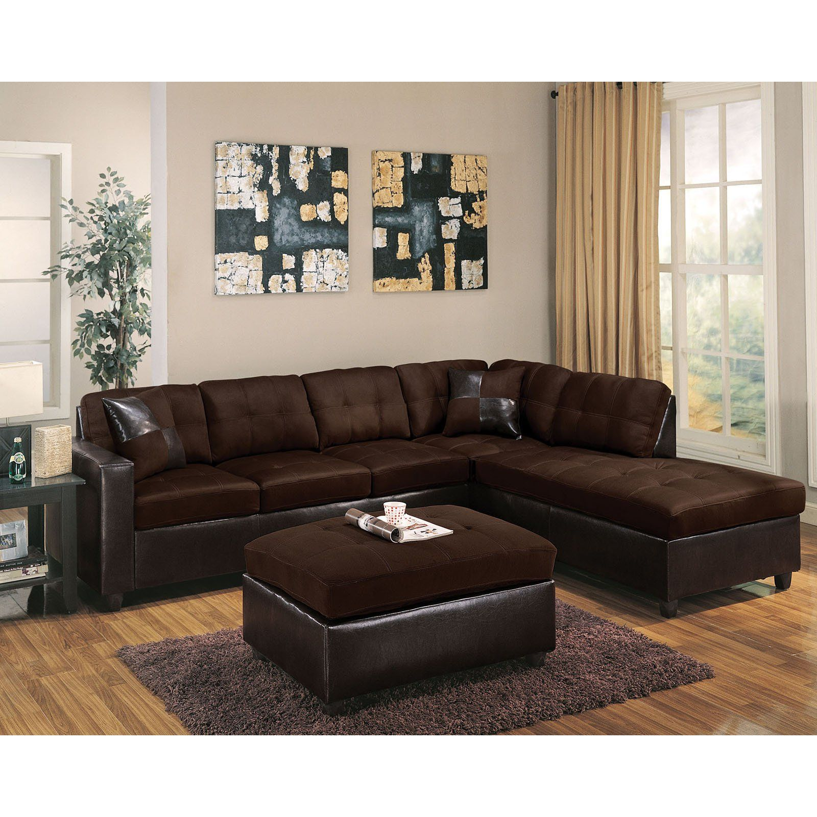 Acme Furniture Milano Ottoman Brown Products In 2019