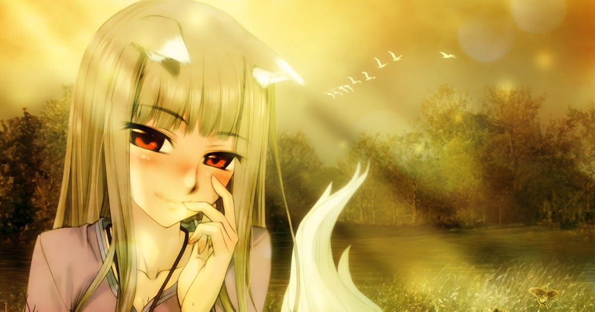 20 Wallpaper Anime Cute Wolf Spice And Wolf Wallpaper And Scan Gallery Minitokyo Download Hd Wallpaper Movie Wolf Chi Spice And Wolf Anime Wolf Girl Anime