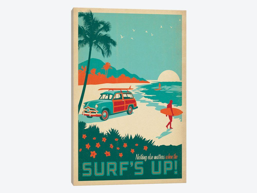 Top Seller! Vintage surfing canvas. Guaranteed to provide good vibes year round.