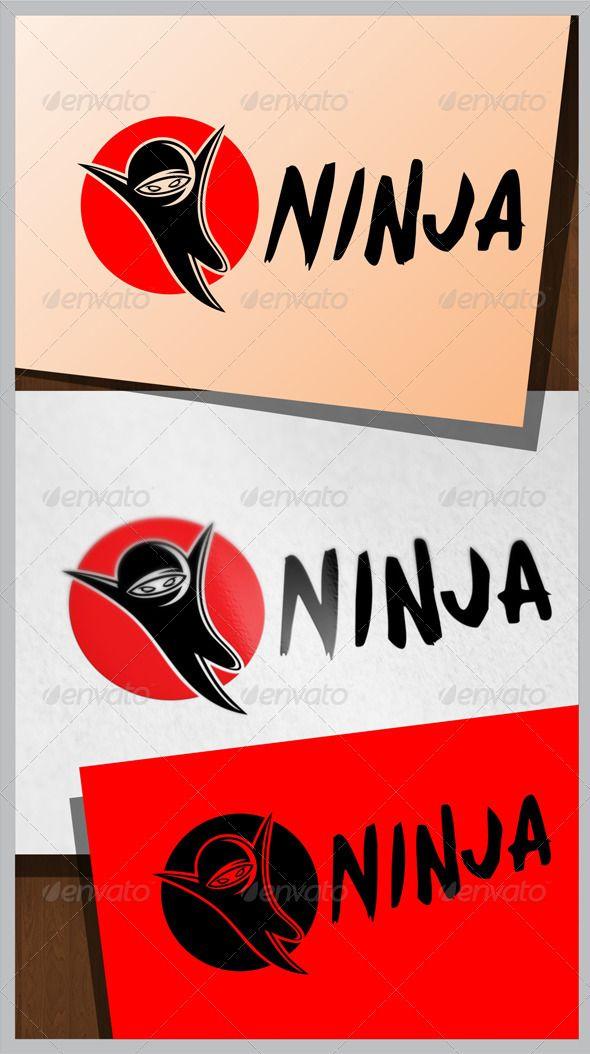 Ninja Logo — Photoshop PSD #identity #vector • Available here → https://graphicriver.net/item/ninja-logo/8036516?ref=pxcr