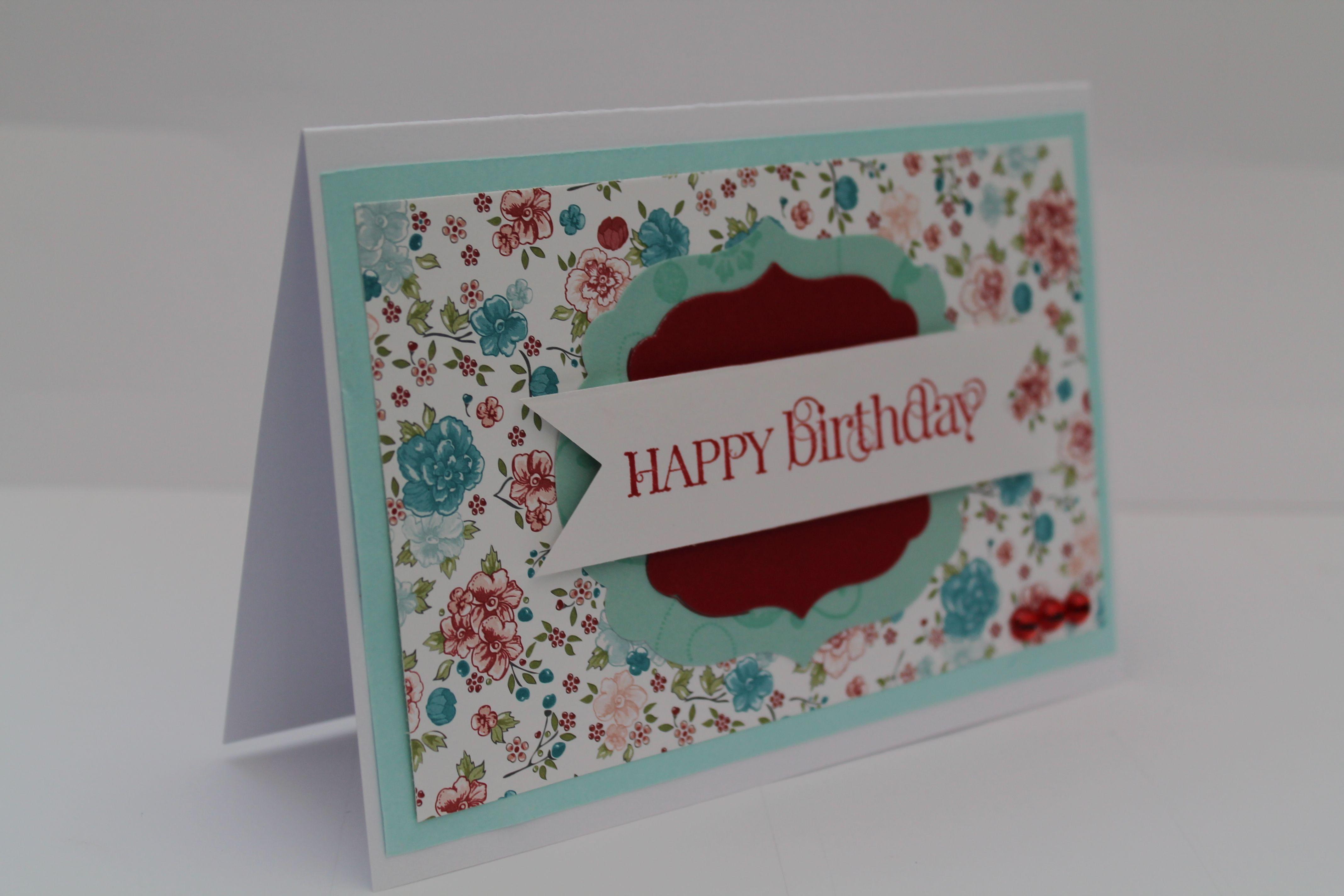 Happy birthday card stampinu up craft ideas pinterest happy