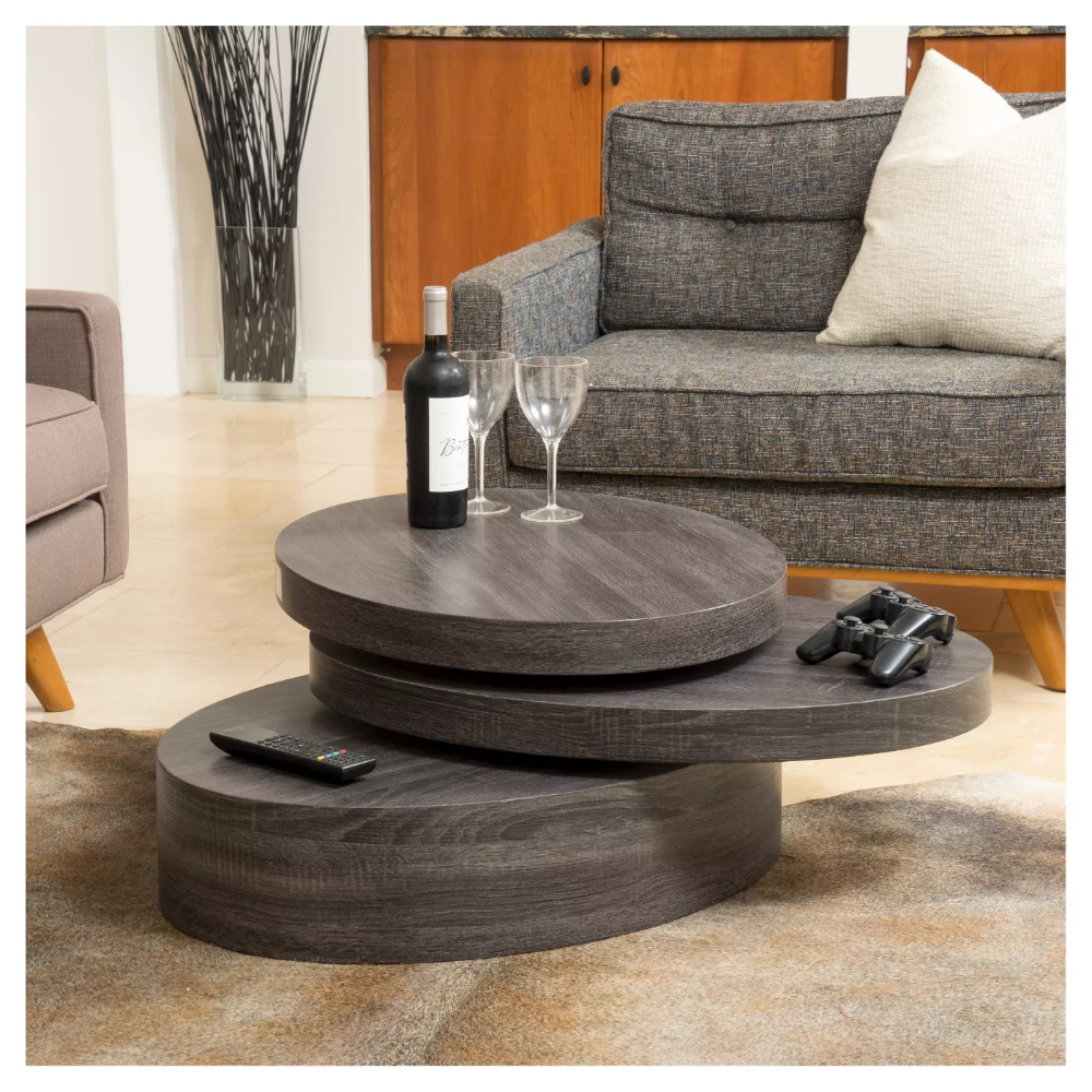 Carson Small Oval Rotatable Coffee Table Black Oak Christopher Knight Home In 2021 Coffee Table Wood Coffee Table Oval Wood Coffee Table [ 1000 x 1000 Pixel ]